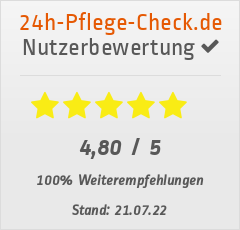 Bewertungen von IHRE Betreuungsagentur 24 UG bei 24h-pflege-check.de