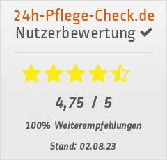 Bewertungen von Betreuungsagentur Nord UG bei 24h-pflege-check.de