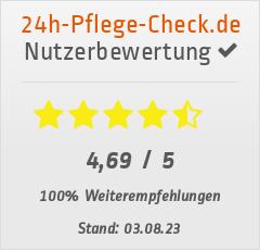 Bewertungen von St. Elisabeth Pflegevermittlung GmbH bei 24h-pflege-check.de