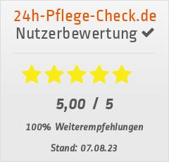 Bewertungen von Daheimpflege24 bei 24h-pflege-check.de