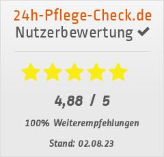 Bewertungen von Betreuungsvermittlung24 bei 24h-pflege-check.de