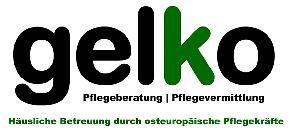 Logo gelko Pflegevermittlung
